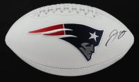J. C. Jackson Signed Patriots Logo Football (JSA COA) (See Description) at PristineAuction.com
