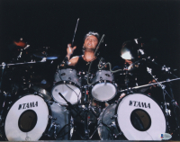 Lars Ulrich Signed 11x14 Photo (Beckett COA) at PristineAuction.com