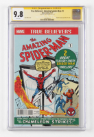 """Tom Holland Signed 2017 """"True Believers: The Amazing Spider-Man"""" Issue #1 Marvel Comic Book (CGC 9.8) at PristineAuction.com"""