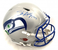 Shaun Alexander Signed Seahawks Full-Size Throwback Speed Helmet (JSA COA) at PristineAuction.com