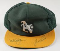 Mark McGwire & Jose Canseco Athletics Logo Snapback Hat (JSA LOA) at PristineAuction.com