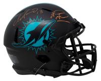 Dan Marino & Tua Tagovailoa Signed Dolphins Full-Size Authentic On-Field Eclipse Alternate Speed Helmet (Beckett COA) at PristineAuction.com