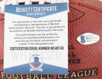 "Dak Prescott Signed Official NFL ""The Duke"" Cowboys Logo Game Ball Football (Beckett COA) at PristineAuction.com"