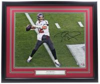 Tom Brady Signed Buccaneers 22x27 Custom Framed Photo (Fanatics Hologram) at PristineAuction.com