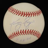 "Kenny Rogers Signed OAL Baseball Inscribed ""7-28-94"" (JSA COA) at PristineAuction.com"