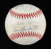 1957 Braves ONL Baseball Team-Signed by (12) with Warren Spahn, Eddie Mathews, Hank Aaron, Red Schoendienst (PSA LOA) at PristineAuction.com