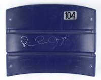 "Michael ""Playmaker"" Irvin Signed Cowboys Stadium Blue Seat Back (Beckett Hologram) (See Description at PristineAuction.com"