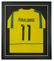 Ronaldinho Signed 32x36 Custom Framed Jersey (Beckett COA) at PristineAuction.com