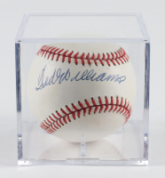 Ted Williams Signed OAL Baseball with Display Case (JSA LOA) at PristineAuction.com