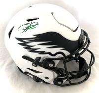 Jalen Hurts Signed Eagles Full-Size Authentic On-Field Lunar Eclipse Alternate Speedflex Helmet (PSA COA) at PristineAuction.com