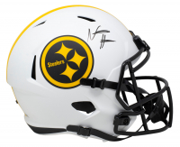 Najee Harris Signed Steelers Full-Size Lunar Eclipse Alternate Speed Helmet (Fanatics Hologram) at PristineAuction.com