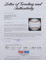 Joe DiMaggio Signed OAL Baseball with Sealed Display Case (PSA LOA - Graded 8) at PristineAuction.com