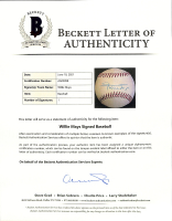 Willie Mays Signed Baseball (Beckett LOA) at PristineAuction.com