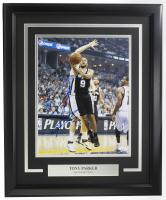 Tony Parker Signed Spurs 22x27 Custom Framed Photo (JSA COA) at PristineAuction.com