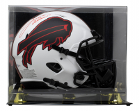 Josh Allen Signed Bills Full-Size Authentic On-Field Lunar Eclipse Alternate Speed Helmet With Display Case (Beckett COA) at PristineAuction.com