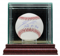 """Ronald Acuna Jr. Signed OML Baseball Inscribed """"2018 NL ROY"""" With Display Case (Beckett Hologram) at PristineAuction.com"""