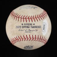 Miguel Amaya Signed 2020 Spring Training Baseball (JSA COA) (See Description) at PristineAuction.com