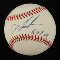 """Dwight """"Doc"""" Gooden Signed ONL Baseball Inscribed """"R.O.Y. 84"""" (JSA COA) at PristineAuction.com"""