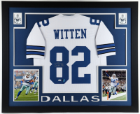Jason Witten Signed 35x43 Custom Framed Jersey Display (Beckett COA & Witten Hologram) at PristineAuction.com