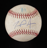 Miguel Amaya Signed 2020 Opening Day OML Baseball (JSA COA) (See Description) at PristineAuction.com
