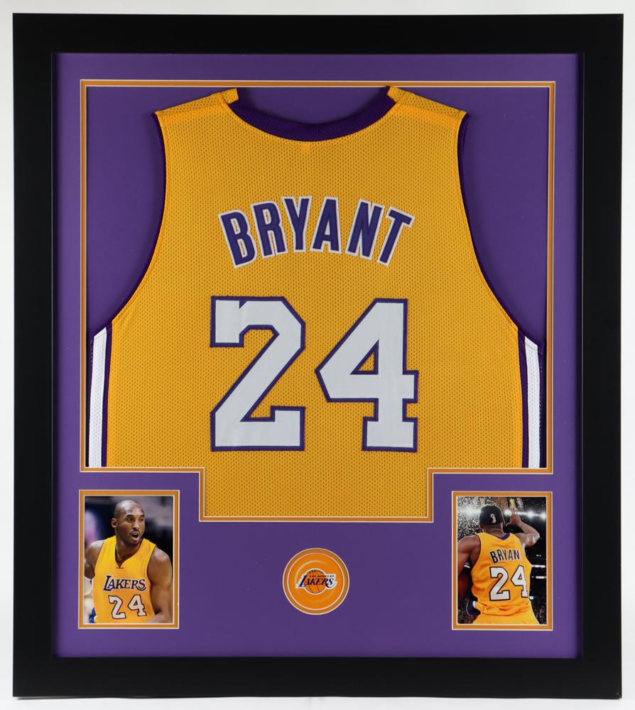 Kobe Bryant 31x35 Custom Framed Jersey Display   Pristine Auction