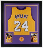 Kobe Bryant 31x35 Custom Framed Jersey Display (See Description) at PristineAuction.com
