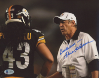 """Dick LeBeau Signed Steelers 8x10 Photo Inscribed """"Best Wishes"""" (Beckett COA) at PristineAuction.com"""