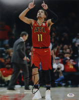 Trae Young Signed Hawks 11x14 Photo (PSA Hologram) at PristineAuction.com