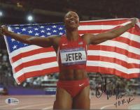 "Carmelita Jeter Signed 8x10 Photo Inscribed ""10.64 100M 40.02 WR"" (Beckett COA) at PristineAuction.com"