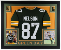 Jordy Nelson Signed 35x43 Custom Framed Jersey Display (Beckett Hologram) at PristineAuction.com