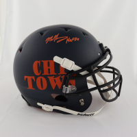 """Mike Singletary Signed Full-Size Authentic On-Field Matte Navy Helmet Inscribed """"HOF 98"""" (Beckett COA) (See Description) at PristineAuction.com"""