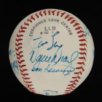 Little League Baseball Signed by (10) with Leo Durocher, Red Schoendienst, Gary Carter, Steve Sax, Ben Oglivie (JSA ALOA) at PristineAuction.com