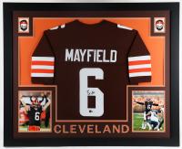 Baker Mayfield Signed 35x43 Custom Framed Jersey Display (Beckett Hologram) at PristineAuction.com