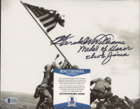 """Hershel W. Williams Signed 8x10 Photo Inscribed """"Medal of Honor Iwo Jima"""" (Beckett COA) at PristineAuction.com"""