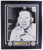 """Whitey Ford Signed Yankees 16x20 Framed Photo Display Inscribed """"HOF - 74"""" (PSA COA) at PristineAuction.com"""