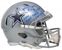 "Ezekiel Elliott Signed Cowboys Full-Size Speed Helmet Inscribed ""How Bout Them Cowboys!"" (Beckett Hologram) at PristineAuction.com"
