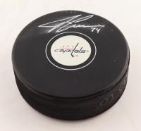 John Carlson Signed Capitals Logo Hockey Puck (Fanantics Hologram) (See Description) at PristineAuction.com