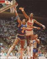 """Adrian Dantley Signed Jazz 8x10 Photo Inscribed """"H.O.F. 2008"""" (Beckett COA) at PristineAuction.com"""