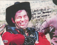 """Burton Gilliam Signed """"Blazing Saddles"""" 8x10 Photo Inscribed """"You'd Think It Was 120 Degrees - Can't Be More'n 114!!!"""" & """"Lyle"""" (Beckett COA) at PristineAuction.com"""