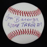 """Tom Berenger Signed OML Baseball Inscribed """"Jake Taylor #7"""" (JSA COA) at PristineAuction.com"""