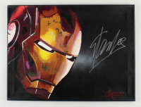 """Stan Lee Signed """"Iron Man"""" 18x24 Hand-Painted Acrylic Painting on Canvas (JSA COA) (See Description) at PristineAuction.com"""