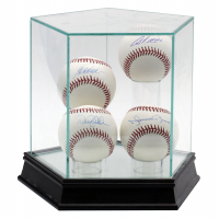 """Yankees """"Core Four"""" OML Baseball Display Signed by (4) with Derek Jeter, Andy Pettitte, Jorge Posada & Mariano Rivera with Display Case (Steiner COA & MLB Hologram) at PristineAuction.com"""