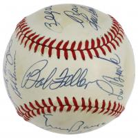MLB Hall of Famers OAL Baseball Signed by (17) with Sandy Koufax, Ernie Banks, Harmon Killebrew, Frank Robinson, Bob Feller (JSA LOA) at PristineAuction.com