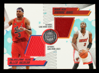 Allen Iverson / Dwyane Wade 2005-06 Topps First Row PTP Dual Relics #IW #45/140 at PristineAuction.com
