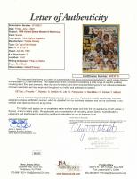 1999 United States Women's World Cup Team 12x15 Custom Framed Magazine Display Signed by (8) with Joy Fawcett, Tiffany Roberts, Saskia Webber (JSA LOA) at PristineAuction.com