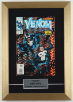 """1993 """"Venom Funeral Pyre"""" Issue #1 12x17 Custom Framed Holographic Cover Comic Book Display (See Description) at PristineAuction.com"""