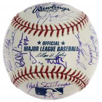 2005 Yankees OML Baseball Signed by (29) with Derek Jeter, Mariano Rivera, Randy Johnson, Mike Mussina, Joe Torre (JSA LOA) at PristineAuction.com
