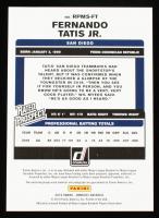 Fernando Tatis Jr. 2019 Donruss Rated Prospect Material Signatures Gold #2 #33/99 at PristineAuction.com