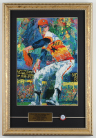 """Nolan Ryan Signed Astros 13x19 Custom Framed Leroy Neiman Print Display Inscribed """"H.O.F. 1999"""" With  """"Class of '99"""" Hall of Fame Induction Pin (PSA COA) (See Description) at PristineAuction.com"""