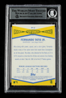 Fernando Tatis Jr. Signed 2019 Topps Heritage Rookie Performers #RP12 (BGS Encapsulated) at PristineAuction.com